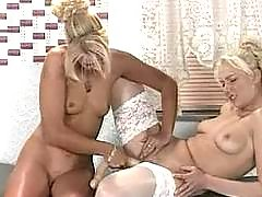 Lustful chicks trying lesbian sex