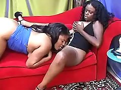 Ebony lesbians play in hot games
